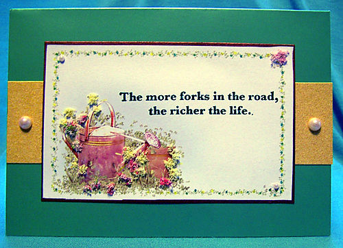 More forks in the road