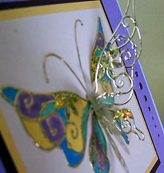 Stampendous butterfly close up