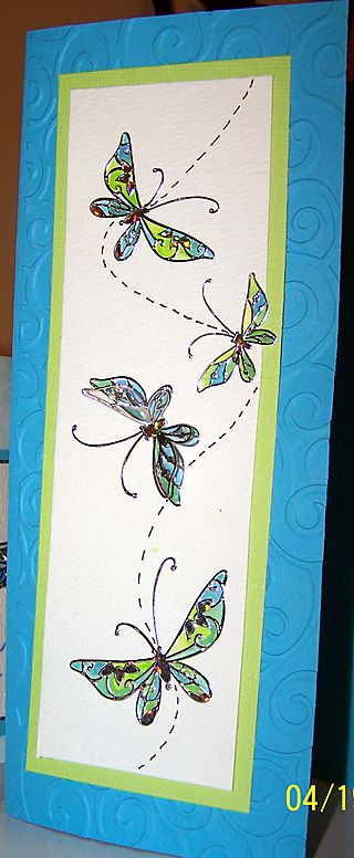 Butterfly card view 2