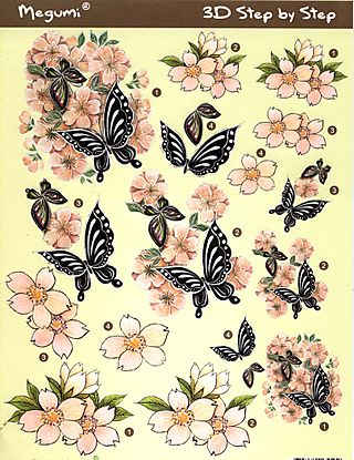 3-d black butterfly sheet