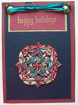 Medallion Happy Holidays card