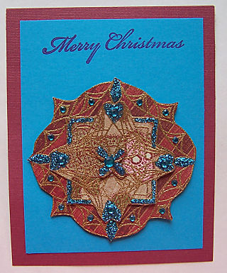 Medallion Merry Christmas Card