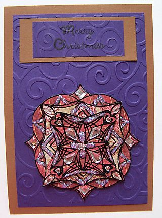 Medallion purple embossed