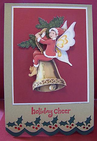 3-d elf card