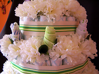 Kristen diaper cake rose buds