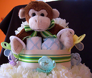 Kristen diaper cake top close up