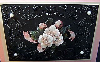 Poinsettias & piercing close-up