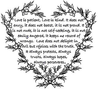 Love is Patient heart