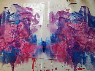 Acrylic paint in folder