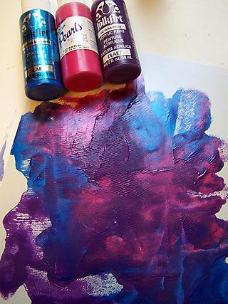 Acrylic paint smoosh
