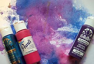 Acrylic Paint & windex smoosh
