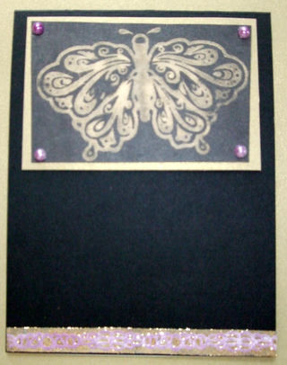 Bleached Butterfly - unfinished card